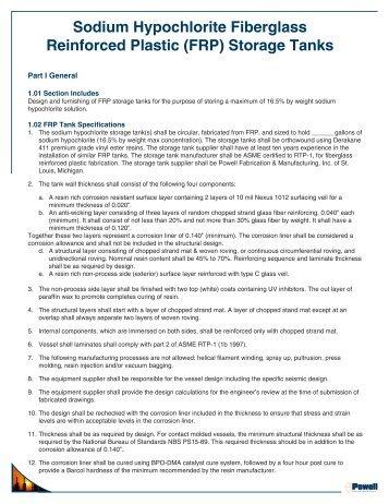 (FRP) Storage Tanks - Powell Fabrication & Manufacturing, Inc.
