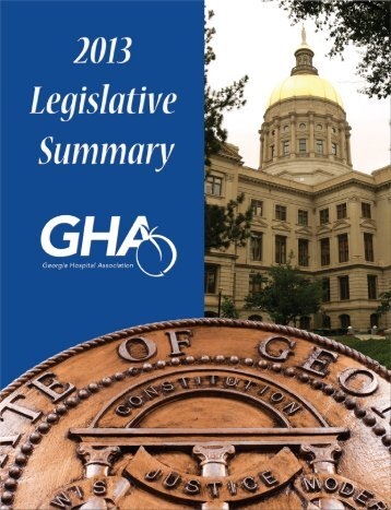 2013 legislative summary table of contents - Advocacy - Georgia ...