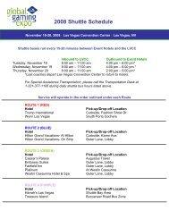 View the G2E Shuttle Schedule