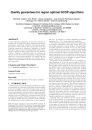 Quality guarantees for region optimal DCOP ... - ResearchGate
