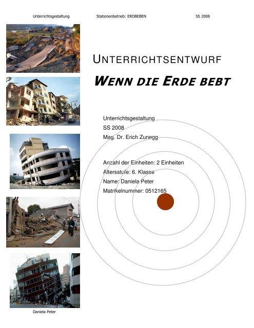 Stundenthema: Erdbeben
