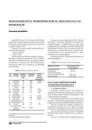 Managementul perioperator al pacientului cu hemofilie