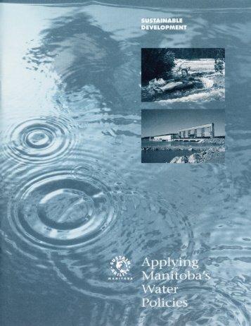 Applying Manitoba's Water Policies - Government of Manitoba