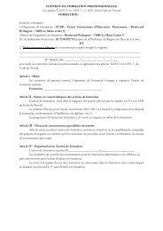 CONTRAT DE FORMATION PROFESSIONNELLE Les articles L ...