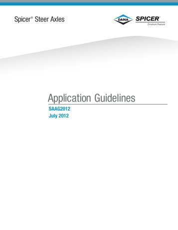 Steer Axle Application Guidelines