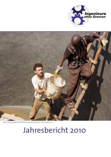 Freiwillige in Projekten 2010 - Ingenieure ohne Grenzen