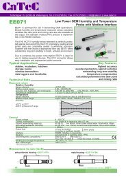 Low Power OEM Humidity / Temperature Transmitter with modbus ...