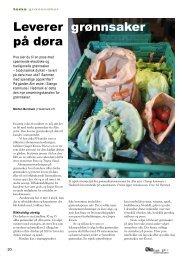 Leverer grønnsaker på døra
