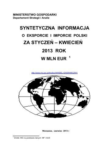 IV 2013 - Ministerstwo Gospodarki