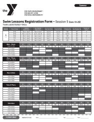 Swim Lessons Registration Form - Session 5(June 10-29) - YMCA of ...