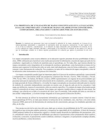 UNA PROPUESTA DE UTILIZACIÓN DE MAPAS CONCEPTUALES ...