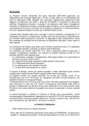 RELAZIONE La Regione Veneto nell'ambito del piano triennale ...