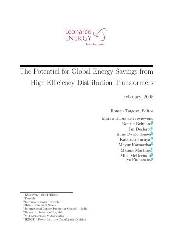The Potential for Global Energy Savings from High Efficiency ...