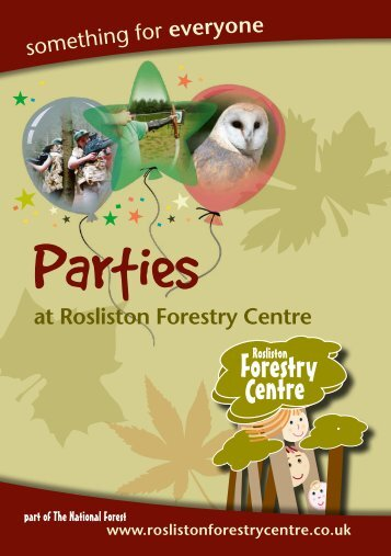 Birthday Party Booking Form - Rosliston Forestry Centre