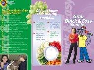 Grab Snacks Brochure - Kids a Cookin