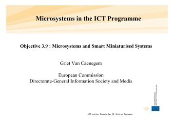 Microsystems in the ICT Programme - RTD