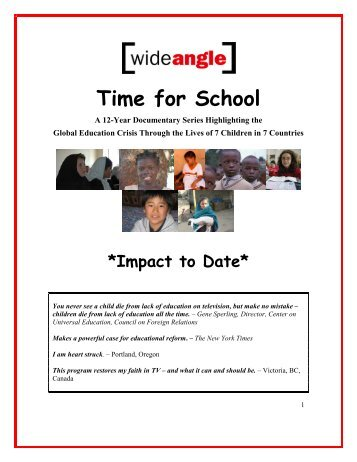 Time for School - Basic Education Coalition