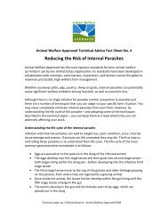 Reducing the Risk of Internal Parasites - Animal Welfare Approved