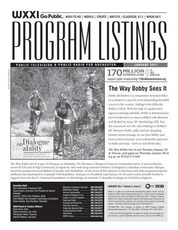 Program Listings - January 2011 - WXXI