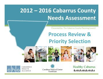 2012 – 2016 Cabarrus County Needs Assessment