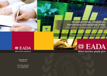 International Financial Reporting Standards IFRS. Definición ... - EADA