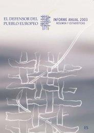 Informe anual 2003 - EOI