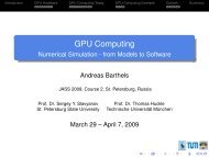 GPU Computing - Numerical Simulation - from Models to Software