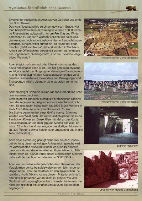 Mystisches SteinReich ohne Grenzen Das Weltmegalithikum