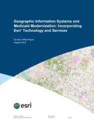 Geographic Information Systems and Medicaid Modernization - Esri