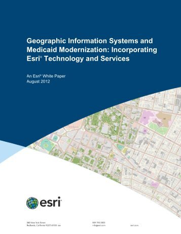 Geographic Information Systems and Medicaid Modernization - Esri