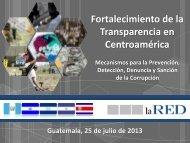 LaRED – Fortalecimiento de la Transparencia en CA (JB)
