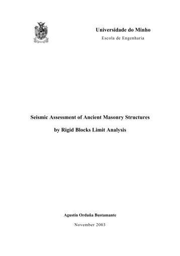 Seismic assessment of ancient masonry structures by rigid blocks ...