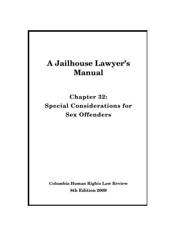 Special considerations for sex offenders - Columbia Law School