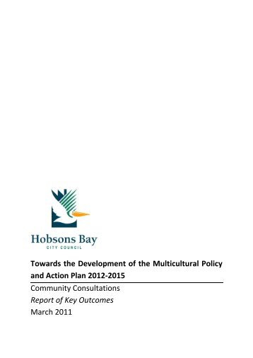 Towards the Development of the Multicultural Policy ... - Hobsons Bay
