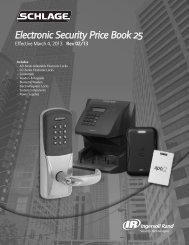 Schlage Electronics - Top Notch Distributors, Inc.