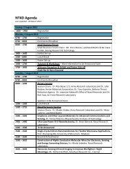 NT4D Agenda