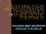 solemnization and registration of marriages outside of the philippines