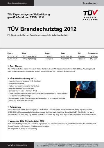 TÜV Brandschutztag 2012 - TÜV Austria Akademie