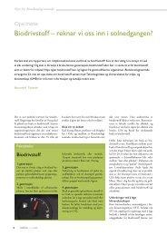 Biodrivstoff – reknar vi oss inn i solnedgangen? - Bioteknologinemnda