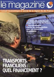transports franciliens: quel financement - CESER Ile-de-France