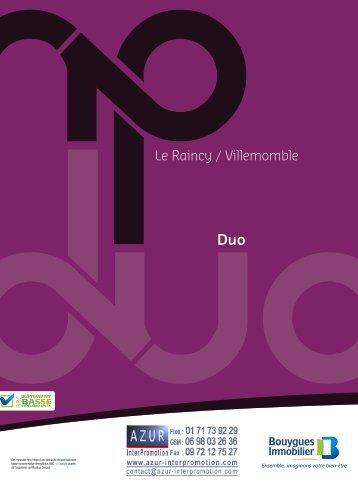 93 Le Raincy Duo - Azur InterPromotion