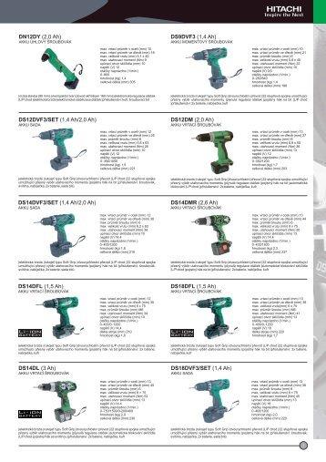 Katalog nářadí Hitachi 2010/11 - TOP CENTRUM