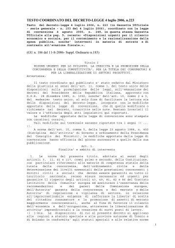 TESTO COORDINATO DEL DECRETO-LEGGE 4 ... - Geologi Puglia