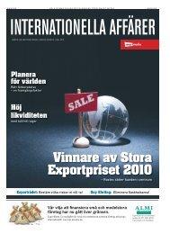 Vinnare av Stora Exportpriset 2010 - Gränslöst Tullager