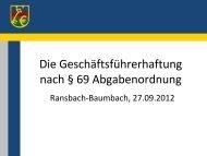 Tatbestandsvoraussetzungen - kassenverwalter.de