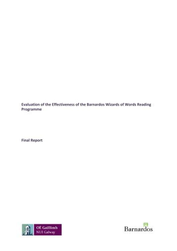 Final Report - UNESCO Child and Family Research Centre