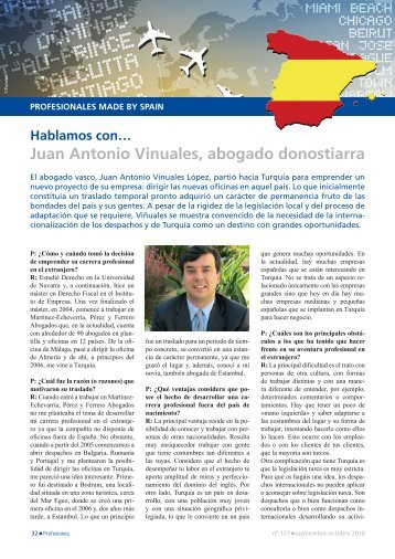 'Made By Spain': Juan Antonio Vinuales, abogado donostiarra