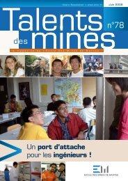 Un port d'attache pour les ingénieurs ! - Ecole des mines de Nantes