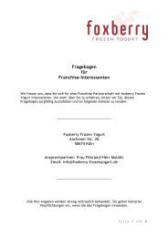 Fragebogen für Franchise-Interessenten - Foxberry