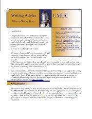 Writing Advice - University of Maryland University College